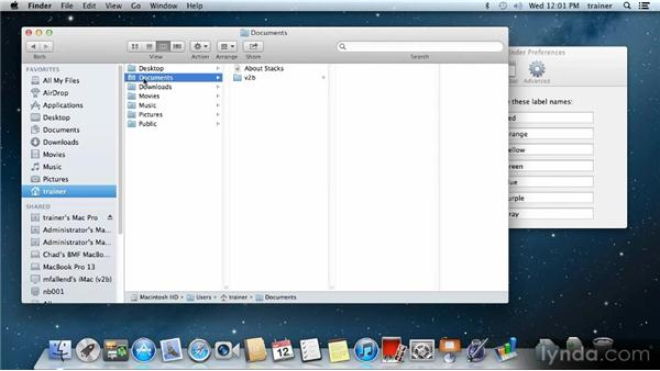 Finder preferences: Up and Running with Mac OS X Mountain Lion