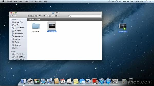Sharing files between users: Up and Running with Mac OS X Mountain Lion