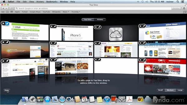 Top Sites: Up and Running with Mac OS X Mountain Lion