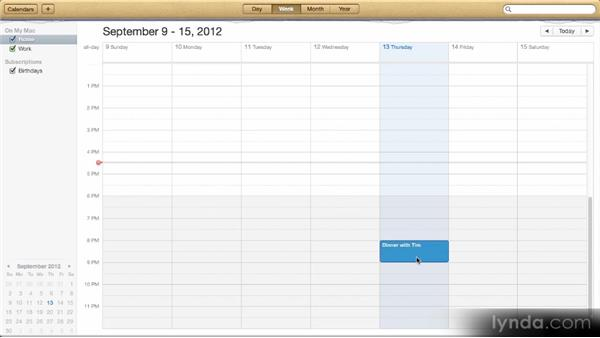 Calendar: Up and Running with Mac OS X Mountain Lion