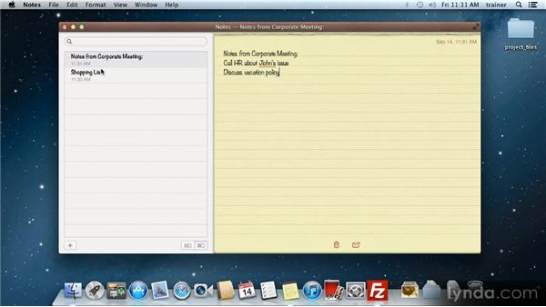 Notes: Up and Running with Mac OS X Mountain Lion