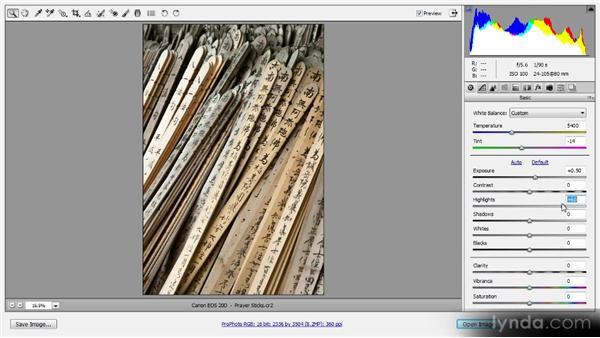 RAW processing: Photoshop Artist in Action: Tim Grey's Prayer Sticks