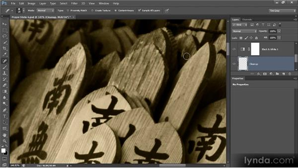 Basic spot removal: Photoshop Artist in Action: Tim Grey's Prayer Sticks
