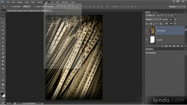 Creating an ethereal glow: Photoshop Artist in Action: Tim Grey's Prayer Sticks