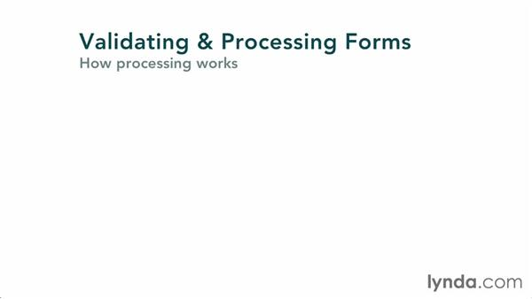 Understanding forms: Validating and Processing Forms with JavaScript and PHP