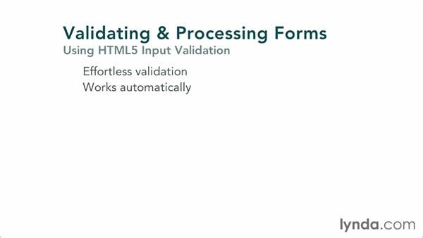 Using input validation: Validating and Processing Forms with JavaScript and PHP