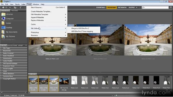 Assembling images from Adobe Bridge: Up and Running with HDR Efex Pro 2.0