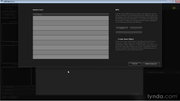Assembling images from Adobe Photoshop: Up and Running with HDR Efex Pro 2.0