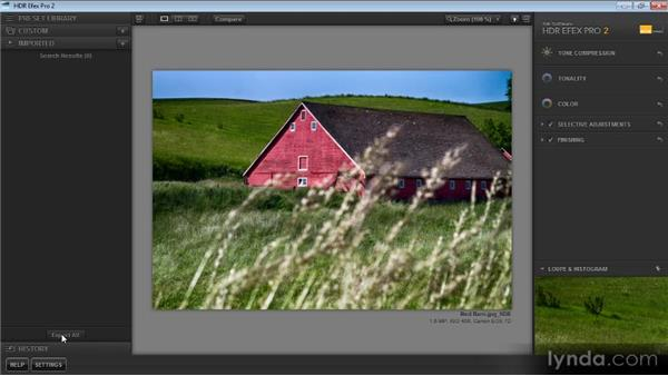 A tour of HDR Efex Pro: Up and Running with HDR Efex Pro 2.0