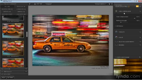 Configuring the interface: Up and Running with HDR Efex Pro 2.0