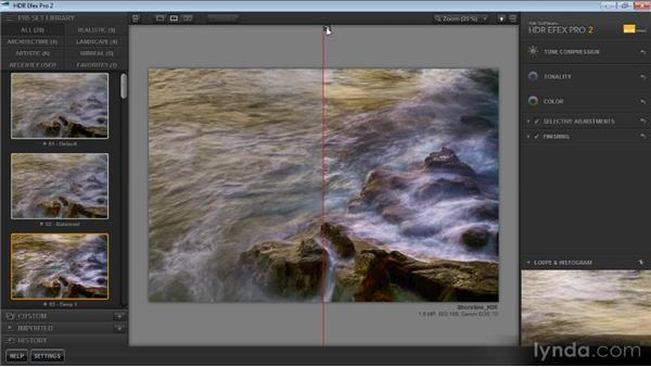 Evaluating the before and after: Up and Running with HDR Efex Pro 2.0