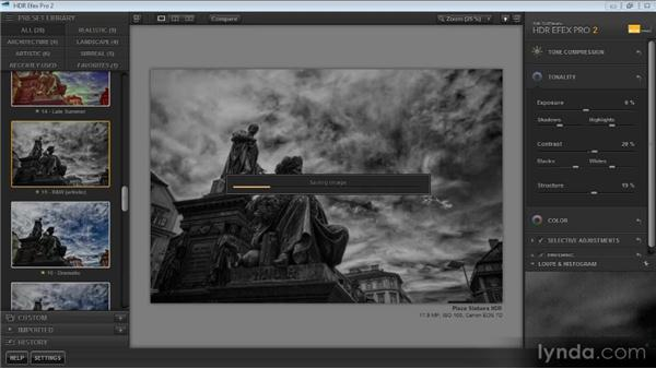 Modifying settings via a Smart Object: Up and Running with HDR Efex Pro 2.0