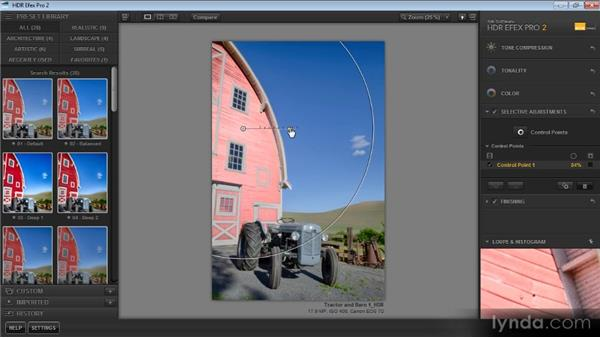 Applying targeted adjustments with control points: Up and Running with HDR Efex Pro 2.0