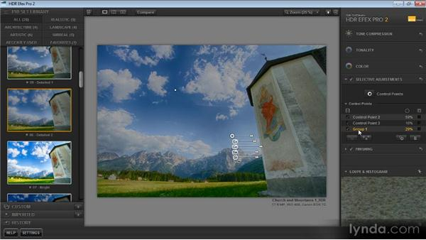 Managing control points: Up and Running with HDR Efex Pro 2.0