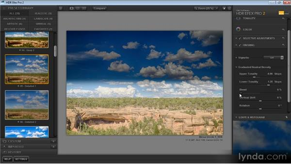 Creating a graduated neutral-density effect: Up and Running with HDR Efex Pro 2.0