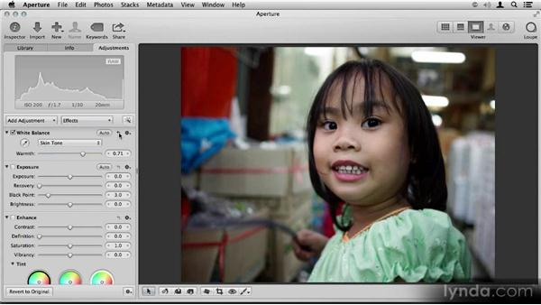 White balance: Skin Tone: Aperture 3.3/3.4 New Features Overview