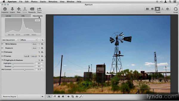 Accessing the legacy Highlights & Shadows tool: Aperture 3.3/3.4 New Features Overview