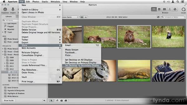 Setting your desktop photo: Aperture 3.3/3.4 New Features Overview