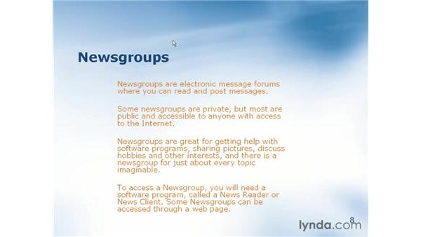 what are newsgroups?: Learning Internet Explorer 6