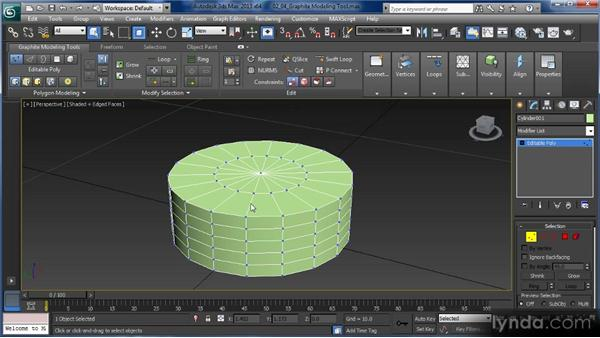 The Graphite Modeling tool ribbon: Getting Started with 3ds Max