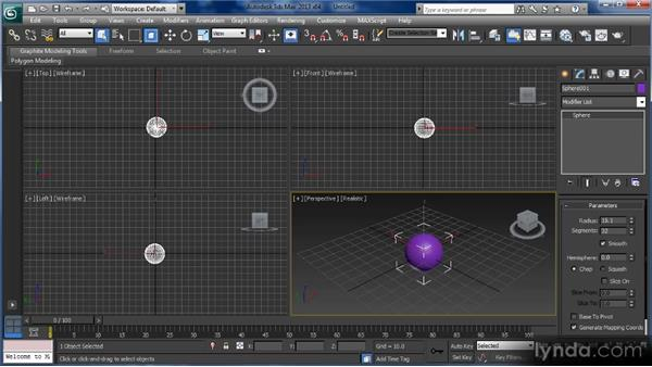 The Command panel: Getting Started with 3ds Max