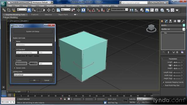 Scene units: Getting Started with 3ds Max