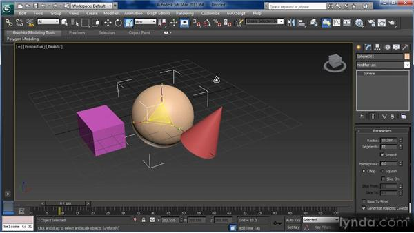 Transforming objects and gizmos: Getting Started with 3ds Max