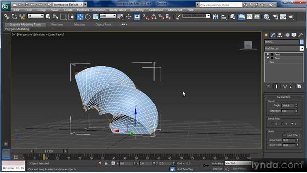 Introducing modifiers and the modifier stack: Getting Started with 3ds Max
