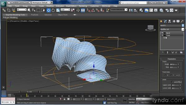 Basic modifiers: Using the Bend, Taper, and Twist modifiers: Getting Started with 3ds Max