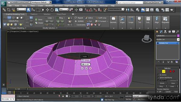 Edge and border editing: Getting Started with 3ds Max