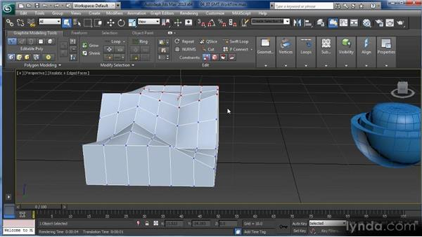 The Graphite Modeling interface: The Visibility, Align, and Properties menus: Getting Started with 3ds Max