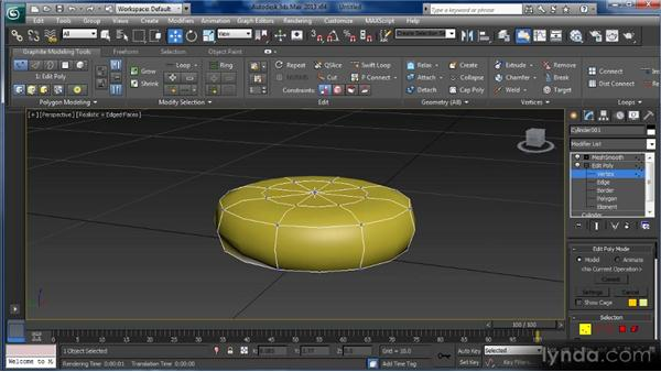 Using the TurboSmooth modifier: Getting Started with 3ds Max
