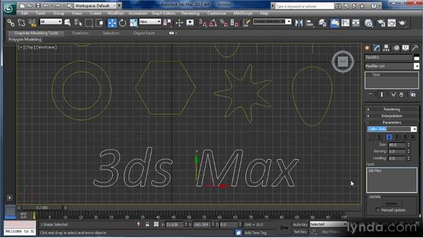 Creating 3D shapes from 2D shapes: Getting Started with 3ds Max
