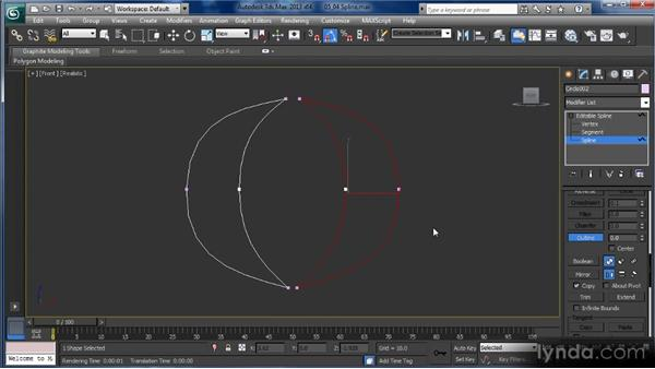 Spline subobject editing: Getting Started with 3ds Max