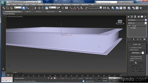 Sweep lines: Getting Started with 3ds Max