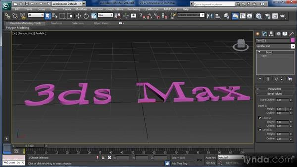 Beveling and extruding splines: Getting Started with 3ds Max