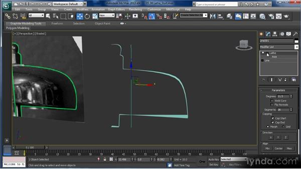 Lathing splines: Getting Started with 3ds Max
