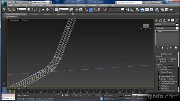 Lofting splines: Getting Started with 3ds Max