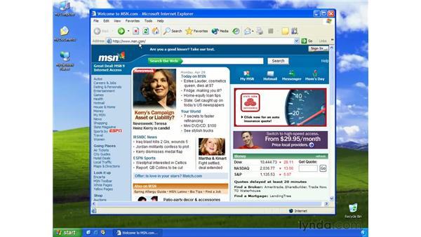 the address bar: Learning Internet Explorer 6
