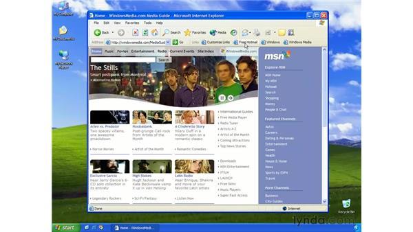 the links bar: Learning Internet Explorer 6