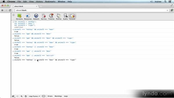 Logical operators: Introducing the JavaScript Language