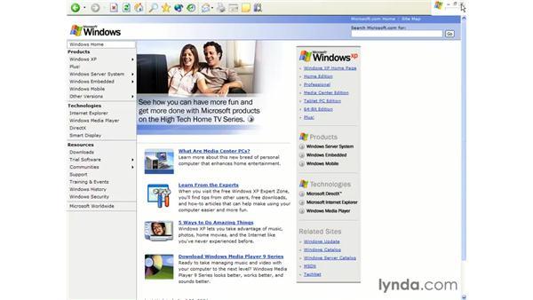 full-screen mode: Learning Internet Explorer 6