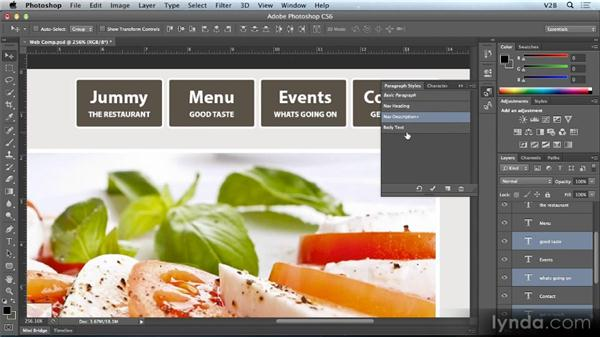 Default type styles: Photoshop CS6 Creative Cloud New Features Workshop