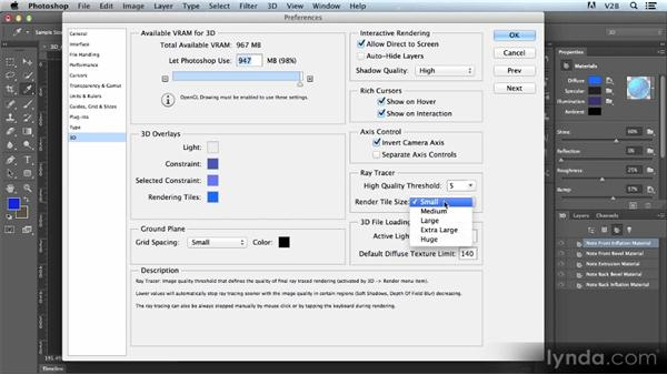 Introducing the new 3D materials and rendering controls: Photoshop CS6 Creative Cloud New Features Workshop
