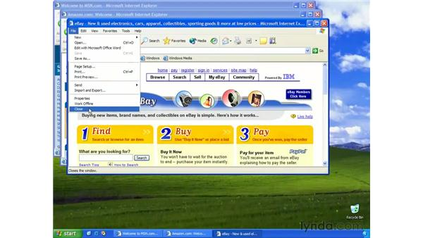 opening a web page: Learning Internet Explorer 6