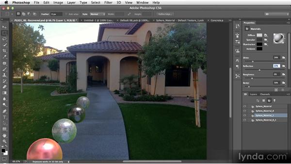 Using the new materials controls in a real-world project: Photoshop CS6 Creative Cloud New Features Workshop