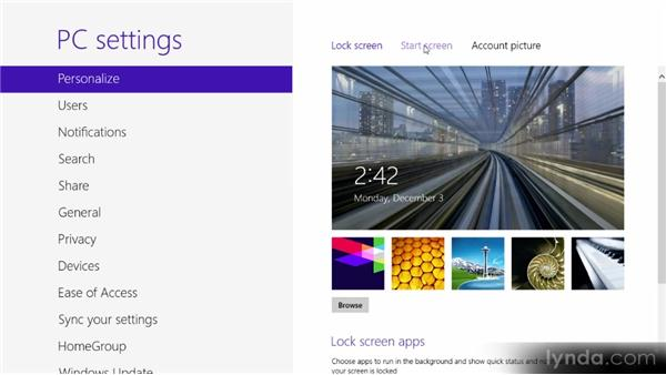 Changing your environment: Up and Running with Windows 8