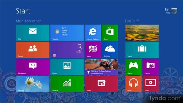 Helpful keyboard shortcuts: Up and Running with Windows 8