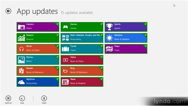 Updating applications: Up and Running with Windows 8