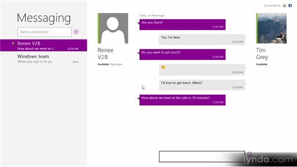 Connecting with Messenger: Up and Running with Windows 8